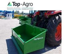TOP-AGRO Transportbox Premium 1,2 Meter Mechanisch Kippmulde, Heckcontainer,