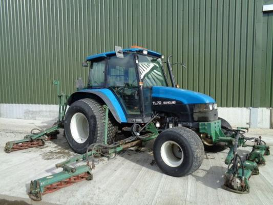 Ransomes Used New Holland TL70 C/w  MK 2 Gang Mower