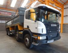Scania P400 EURO 5 8 X 4 STEEL MUCKSHIFT TIPPER - 2013 - EU63 EXH