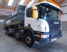 Scania P400 EURO 5 8 X 4 STEEL MUCKSHIFT TIPPER - 2013 - EU63 EXL