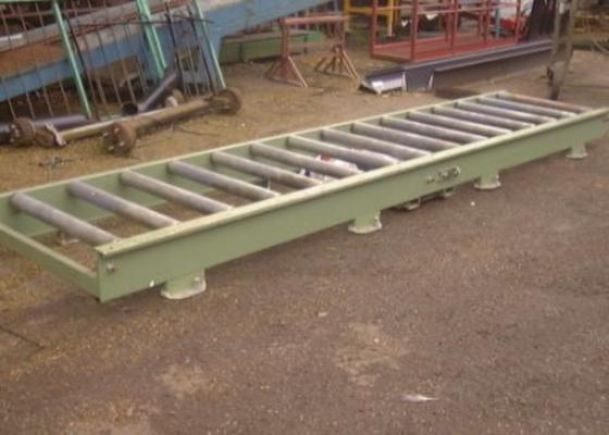 Other Flat conveyor with powered rollers, 16'x3'.