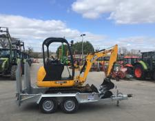 JCB 8014CTS Digger & New Ifor Williams GH94 Plant Trailer (ST6459)
