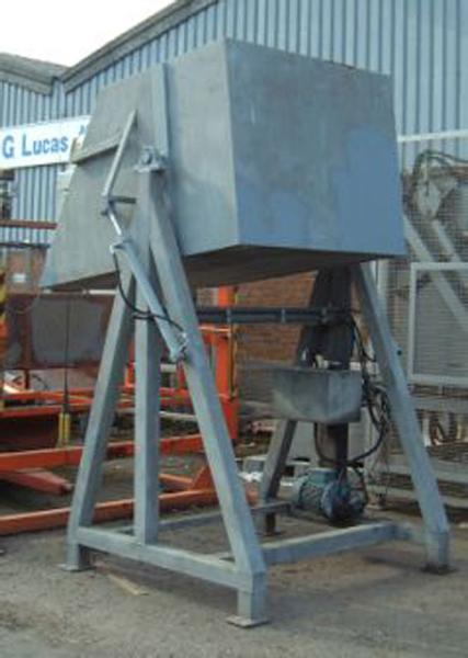 Haith Dolav box tipler, galvanised. Hydraulic power pack,  manual tip