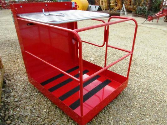 Floor 2 person 1250mm Fork Mounted Access Platform Side Gate Entry