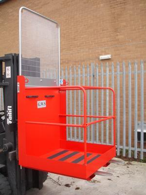 Floor 1 person 950mm Fork Mounted Access Platform Side Gate Entry