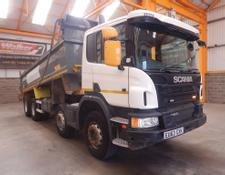 Scania P400 EURO 5 8 X 4 STEEL MUCKSHIFT TIPPER - 2013 - EU63 EXK