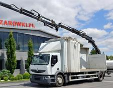 Renault PREMIUM 270 DXI GLASS TRANSPORT CRANE HIAB