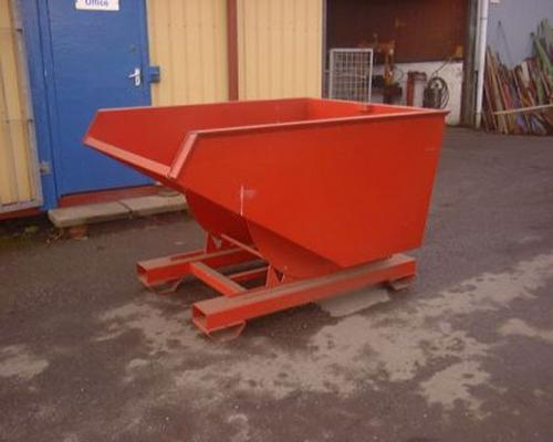 Other 1 ton tipping skip, 4 way fork lift entry.