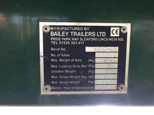 "Other 2015 BAILEY 14T FLAT TRAILER 32"" LONG"