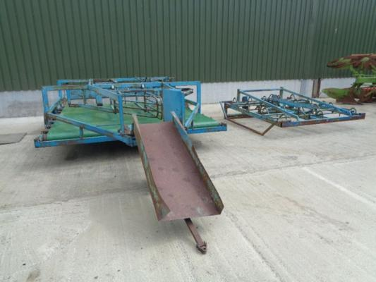 Used Cooks Flat 10 belt Bale Sledge and Grab