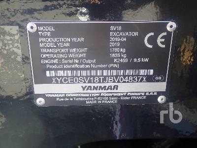 Yanmar SV18 Excavators Used in 4761 Port of Moerdijk, Netherlands