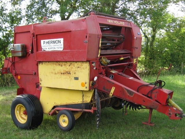 New Holland 835 round baler.