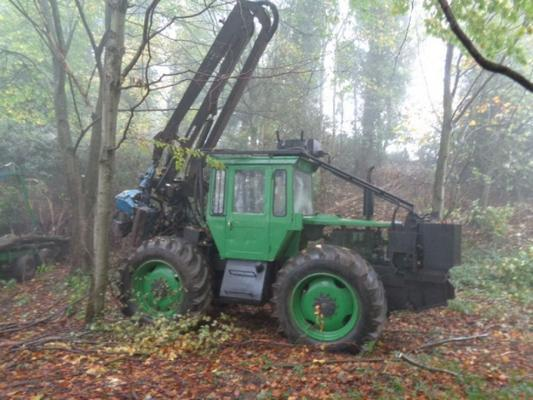 Used MB Trac 1300 C/w Keto Timber Harvester