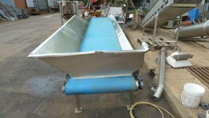 Other Stainless steel flat conveyor 18' long.