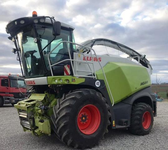 A Claas self-propelled forage harvester